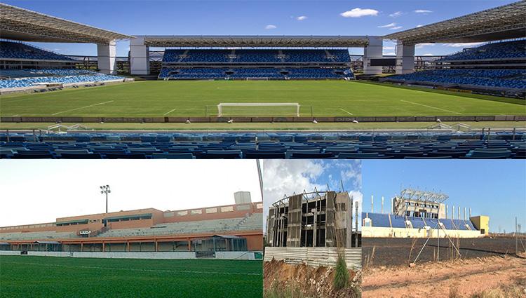 O futebol de Mato Grosso criando força e a estrutura de estádios se acabando aos pouco