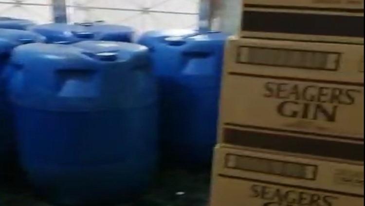 Laboratório de bebidas falsas