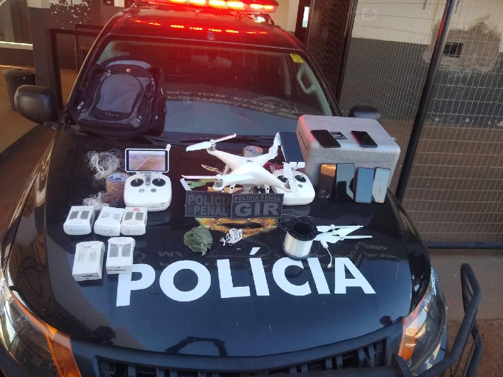Apreensão de drone com celulares na Mata Grande (1)